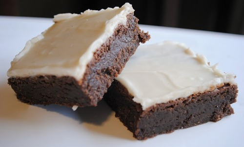 efccooking:  Kahlua Fudge Brownies With icing made from Bailey's.  FYI.