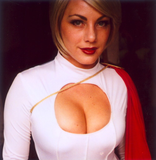 andykhouri:  My friend as Power Girl by Lou O'Bedlam. Photographer's Flickr | Photographer's Tumblr