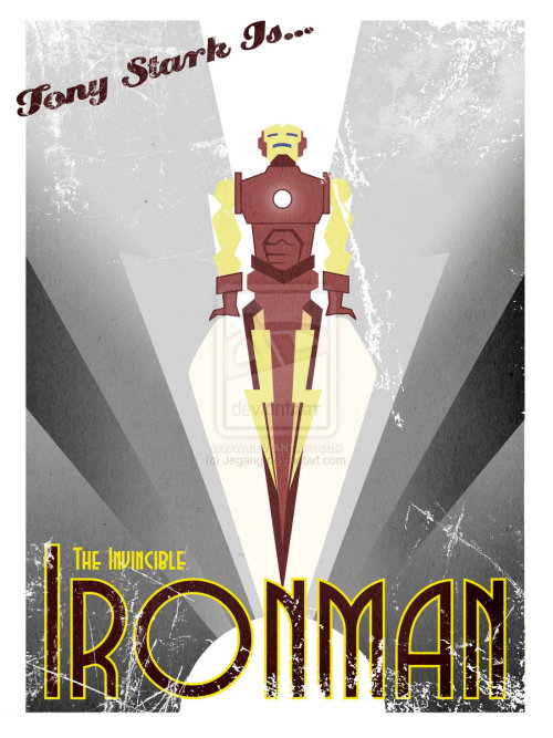 Art Deco Iron Man by Adam Dello Buono