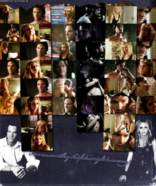 "Daphne/Kell || Sarah Gellar/Jared Padalecki.         ""Feel my temperature rising      It's too much heat, I'm gonna lose control      Do you want to go higher? Get closer to the fire      I don't know what you're waiting for"" Celebration by Madonna.   Note: Please see the HQ version. As always: Tumblr, I hate you. This is not a real couple/characters. It's based on a RPG. Characters by Yukie & Me."