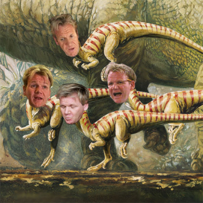 Chef Gordon Ramsay as Ramsaysaurus submitted by Patrick Cann