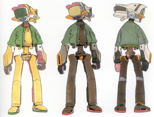 FLCL | Character color concepts for Canti.