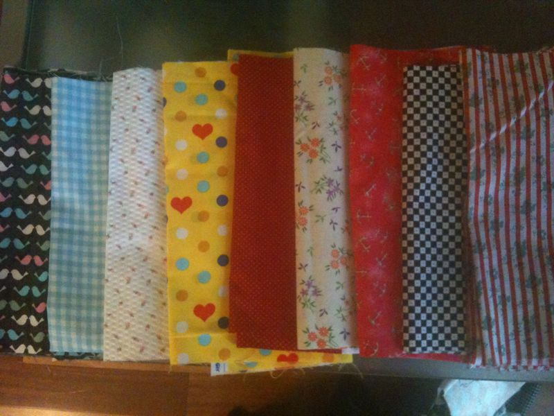 Bought some new fabric over the weekend so I can make more bow ties for the craft fair!