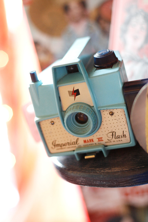 VINTAGE PHOTOS: Blue camera