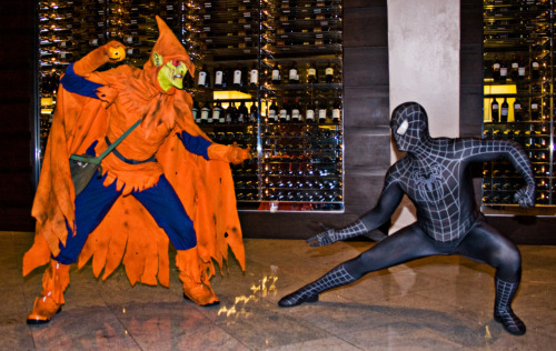 Spider-man vs Hobgoblin Cosplay at Dragon*Con 2008. Photo by Cayusa. (Source)
