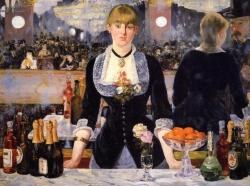 super-mama-ready:  A Bar at the Folies-Bergère by Édouard Manet Possibly my favourite Impressionist artwork.