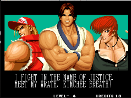 bison2winquote:  - Kim Kap Hwan, King of Fighters 1995 (SNK)
