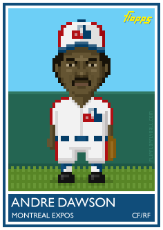 Flopps card No.33: Andre Dawson. See the rest of the series here.