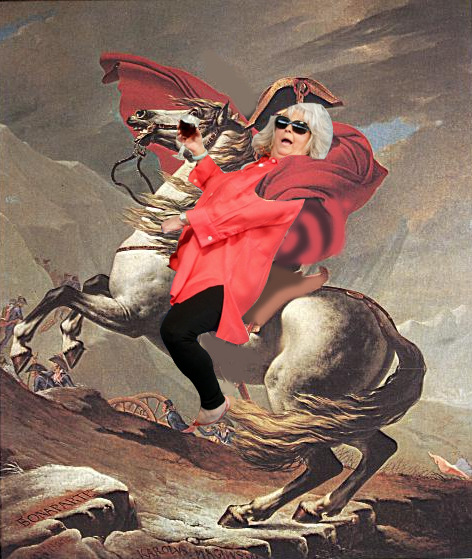 PAULA DEEN CROSSES THE ALPS by Jacques-Louis David  via pauladeenridingthings