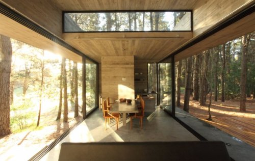Interior of Casa Cher in Argentina by BAK Arquitectos.