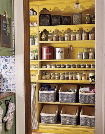 Inspiration for decoration: yellow pantry