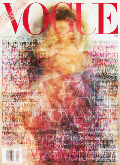 This was made by piling every Vogue cover from 2010 one of top of the other.
