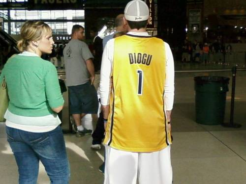 Ike Diogu, Indiana Pacers:  Ike's #1!  Well, literally, at least.  Metaphorically he's somewhere around #735.  (Found by Ryan in Terre Haute.)
