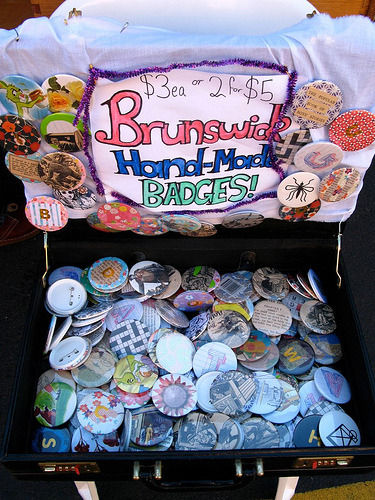 Badges in Brunswick, Melbourne