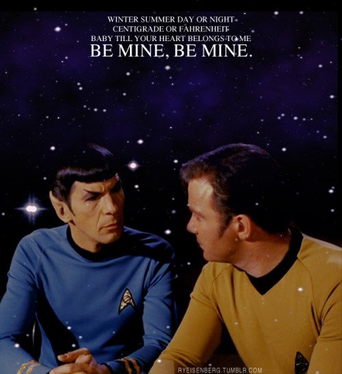 """Be Mine"" ~ David GrayKirk/Spock"