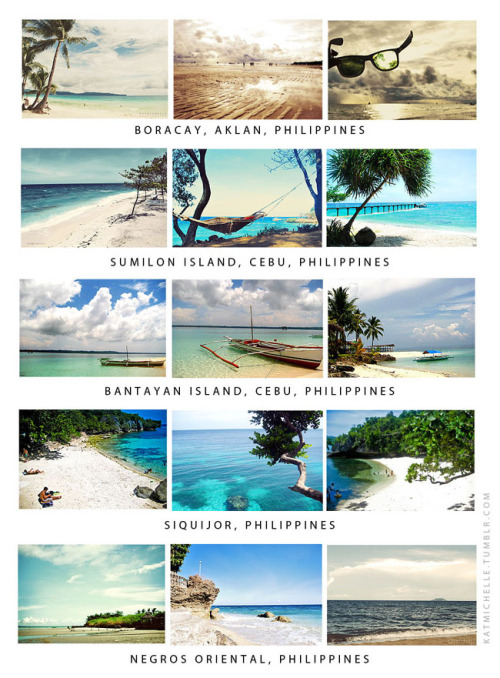 vivafilipinas:  Some of the beaches in the Visayas area of the Philippines. (taken from katmichelle)