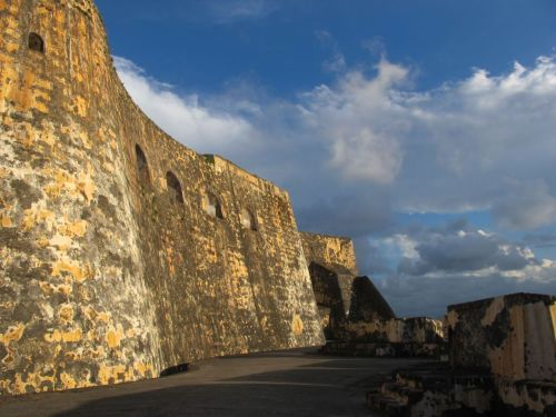 Fort Castillo San Felipe del Morro. Old San Juan, Puerto Rico. The 16th century citadel has evolved over several centuries with the Spanish American war and then World War II. It's magnificent, and I'm wondering, do you think anyone's ever had their wedding here??