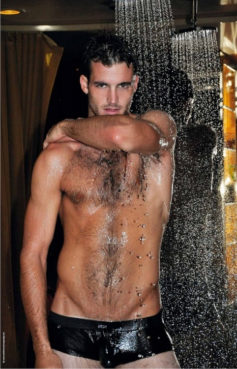 wet Sexy Model & Former Soccer Player Lance Parker sexy shirtless nude naked hot body