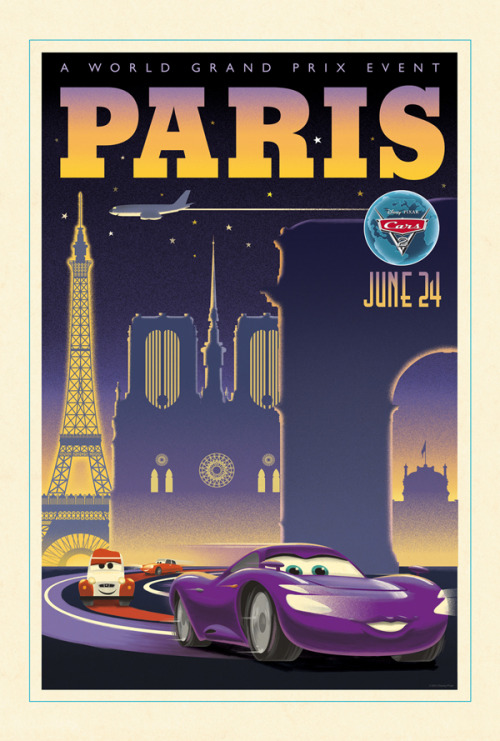 Cars 2 Vintage Posters: Paris