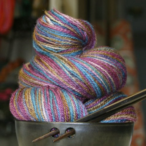 daintyloops:  i love yarn the way that some women love extremely expensive shoes.  Me too.