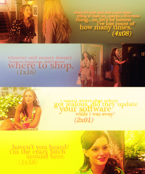 47 DAYS OF CHAIR; (03) Your favorite Blair quote(s).