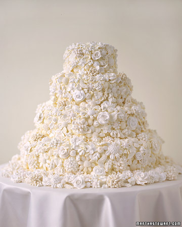 Meringue Bouquet Wedding Cake