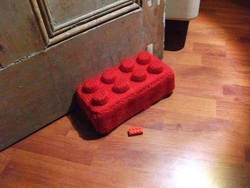 Lego brick doorstop