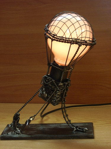 artistinherownmind:  Steampunk inspired light.