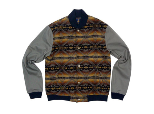 everlane:  A pendleton varsity jacket for opening ceremony (via E)