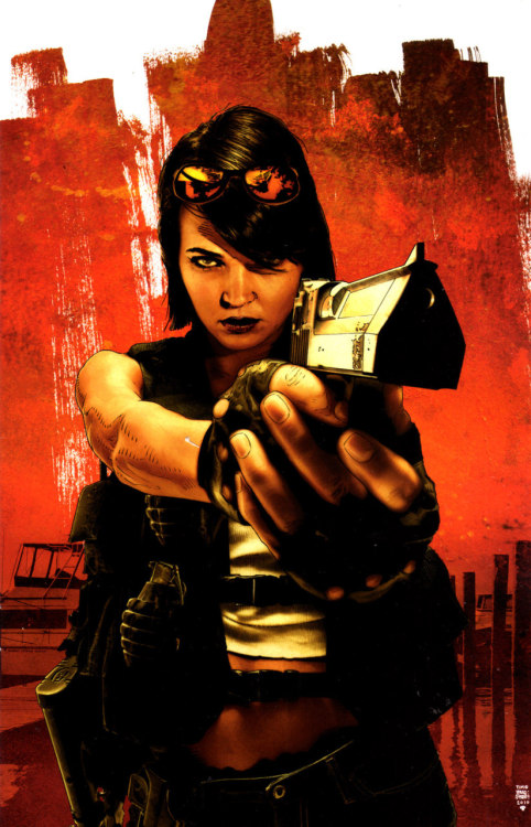 Jennifer Blood #2 cover art by Tim Bradstreet