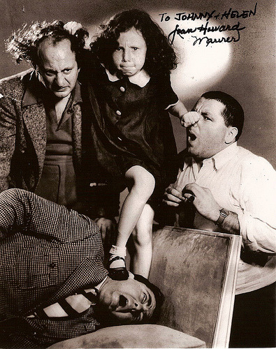 "Stooge ""family"" spam! Starting With little Joan Maurer Howard."
