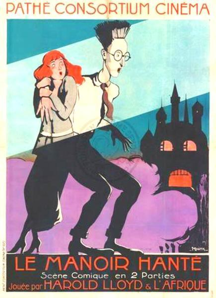 safetylast:  Harold Lloyd Haunted Spooks French poster (1920)