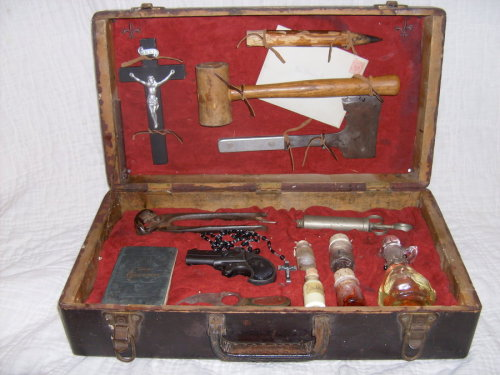 A vampire hunting kit from 1890.