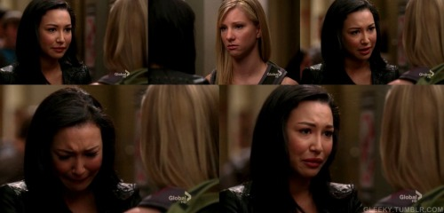 SANTANA: I love you. And I don't want to be with S-Sam, or Finn, or any of those other guys. I just want you. Please say you love me back - please.