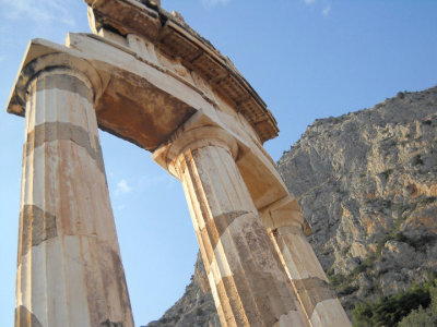 i took this, it's of the temple of athena in delphi