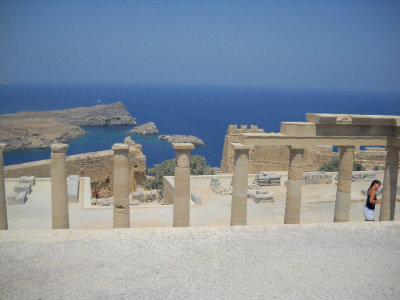 my photo of the acropolis of lindos in rhodes, greece