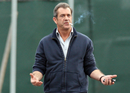 mel gibson with a cigarette.