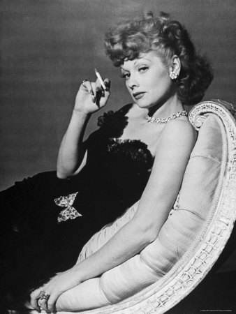 lucille ball with a cigarette.