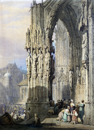 Porch of Ratisbon Cathedral, by Samuel Prout http://www.vandaprints.com/image.php?id=12377&idx=0&fromsearch=true                   The Porch Of St. Vincent, Rouen Samuel Prout (1783-1852 British) Watercolor Cummer Museum of Art & Gardens, Jacksonville, FL © Cummer Museum of Art & Gardens