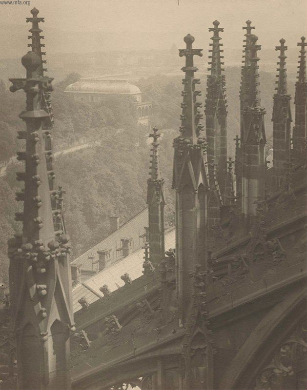 Josef Sudek View from above the Pinnacles and Flying Buttresses of the Cathedral of Saint Vitus, north-side from the portfolio Svàty Vit (Saint Vitus) 1928