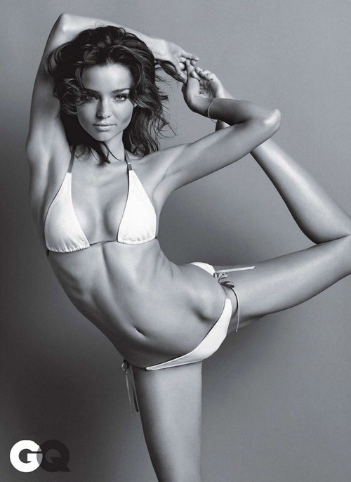 Miranda Kerr. Gorgeous. Fit. Healthy. Curvy. Flexible. Balanced.