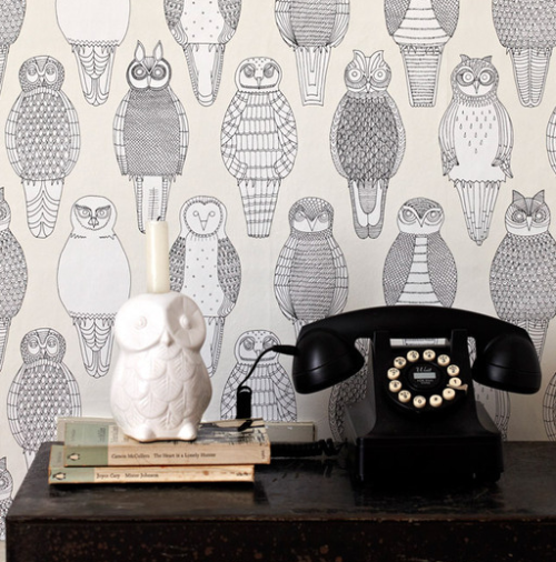 papersparrow:  Owl Wallpaper - Abigail Edwards