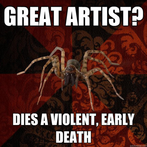 fuckyeaharthistoryarachnid:  some of my fave artists have been absolute crazies.  #caravaggio hahaha love.