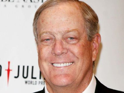 David Koch: lamenting cancer-research cuts—and bankrolling the GOPers behind them.