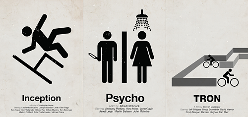Pictogram Movie Posters by Viktor Hertz / Cameron Moll / Designer, Speaker, Author