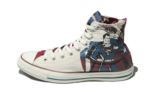 CONVERSE X DC COMICS (75TH ANNIVERSARY) To celebrate their 75th anniversary DC Comics have teamed up with their Super Friends at Converse for this vintage-feel pack that celebrates some of their most enduring Golden Age creations. Featuring Superman, The Joker, The Flash and Wonder Woman, these vivid Chucks will get comic fiends' tights in a twist!