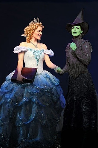 Katie Rose Clarke (Glinda) and Teal Wicks (Elphaba) in the Broadway production.