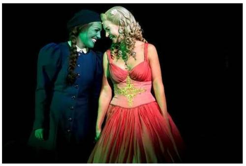 Maria Lucia (Elphaba) and Annette Heick (Glinda) in the original Copenhagen production.
