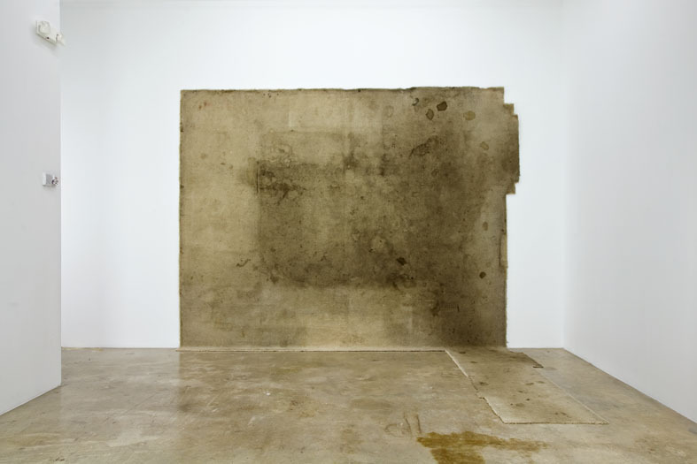 Rodney McMillian, Untitled, 2005 Carpet 139 x 178 x 114