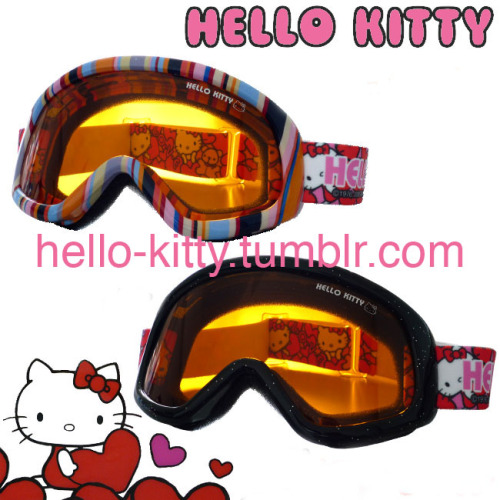 Hello Kitty Snowboarding Goggles